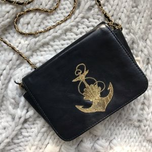 Vintage L.J. Simone Anchor Crossbody Chain Bag